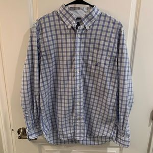 Nautica Shirts - Men's Blue Striped Nautica Button-Up!